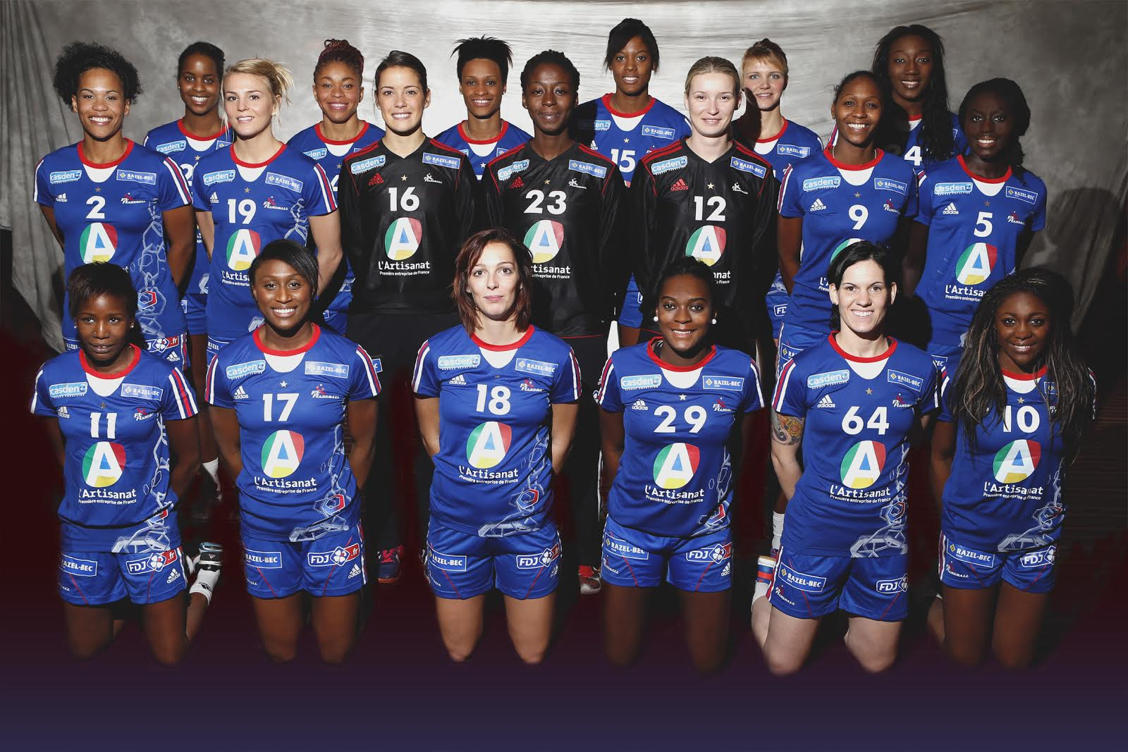 bleues dans Championnat du monde féminin [Handball]