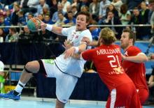 Sander Sagosen sous le maillot de la Norvège