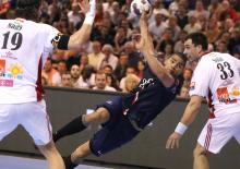 Daniel Narcisse s'est montré très percutant contre Veszprém (2 buts)